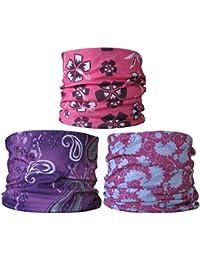 (3 Pack) Multifunctional Headwear. Neck Tubes (Ref D4) Ladies.