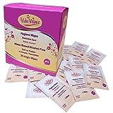 Toallitas húmedas para mujer Higiene íntima Paños de limpieza | Copa antiséptica menstrual y lavado genital | Carteras individuales biodegradables para viajes y viajes