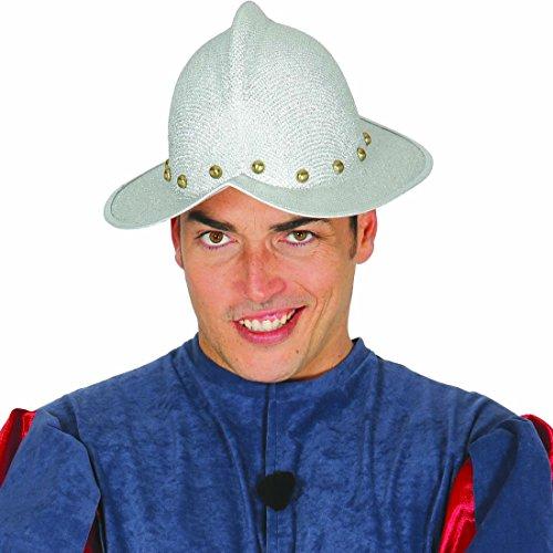 Morion Schutzhelm Entdecker Spanischer Helm Eroberer Kopfbedeckung Konquistador Hut Abenteurer Invasor Kostüm Accessoire (Spanische Entdecker Kostüm)
