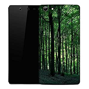 Snoogg Multiple Trees In Dense Forest Designer Protective Phone Back Case Cover For Micromax Canvas Selfie Q348