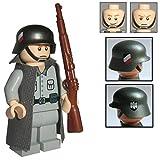 Custom Brick Design Figur - WW2 Serie - Deutscher Soldat