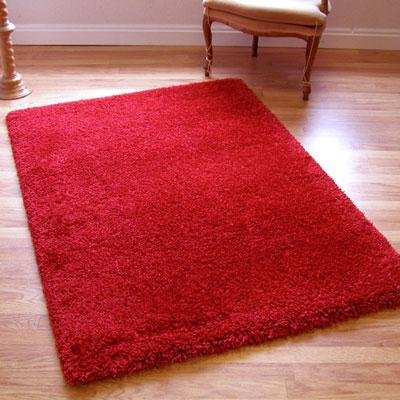 Twilight Rug Thick Luxurious Shaggy Red 0.8m X 2.3m (2'7 X 7'6 Approx) Runner