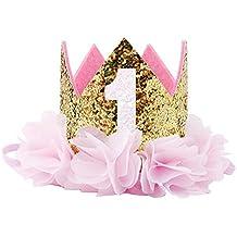 COUXILY Princesa bebé Flor Corona Diadema cumpleaños Accesorios para el ...