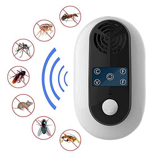 Ant-killer (NOBGP 2 Pack Ultraschall-Schädlingsbekämpfung Repeller Eco freundlichen Nicht-Toxic Indoor Safe Bug Roach Killer Rate-Falle gegen Repel Mosquitoes Ants Bett Fehler Mice Squirrels Spiders)