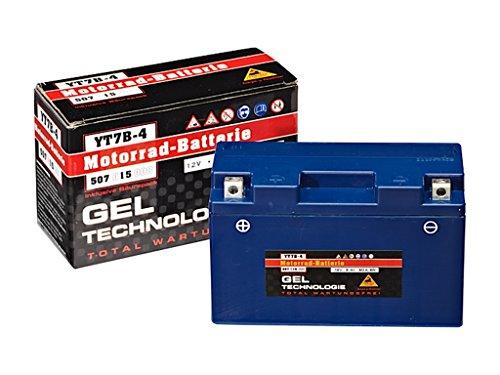 Panther GEL YT7-B4 - 12 V / 6 Ah - 80 A/EN 50715 Motorradbatterie Quad Batterie