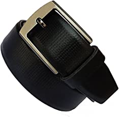 KAEZRI Leather Black Belt for Men