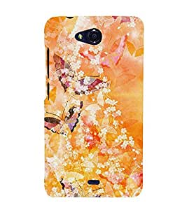 Butterfly Design 3D Hard Polycarbonate Designer Back Case Cover for Micromax Canvas Play Q355