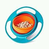 EQLEF® Baby 360 rotation du bol gyro pas renverser aucun apprentissage bol d'automne bébé Vaisselle de formation