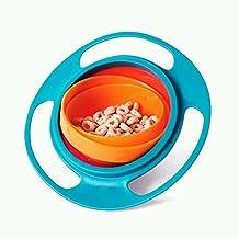 EQLEF® Bebé 360 de rotación de la taza del giróscopo sin derramar ninguna vajilla de formación de aprendizaje tazón bebé de la caída