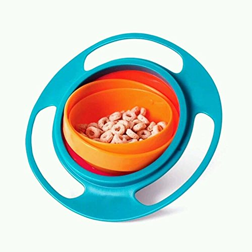 EQLEF® Baby 360 rotation of the gyro bowl no spilling no fall bowl baby learning training tableware