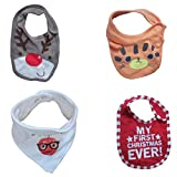 #5: DCS Soft Cotton Baby Bibs(Pack of 4 Combo)(0-6months)