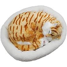 Gatito que respira Juguete de peluche con cama, 26cm (Garfield)