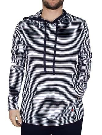 Polo Ralph Lauren - Bleu Stripe Hoodie - Homme - Taille: S