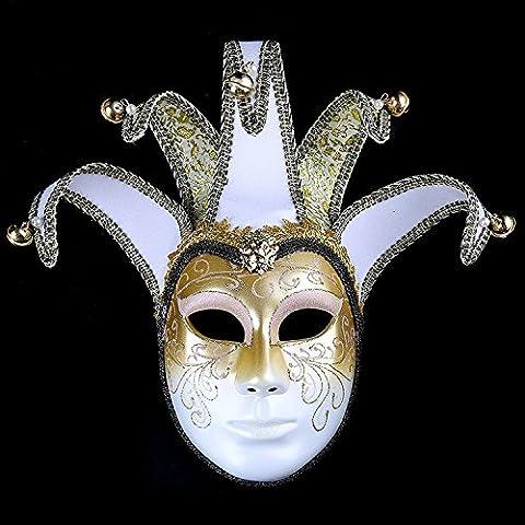 K&C Handgemalte Halloween Masquerade Venedig Party Lace Maske Beige (Vampire Baseball Kostüm)