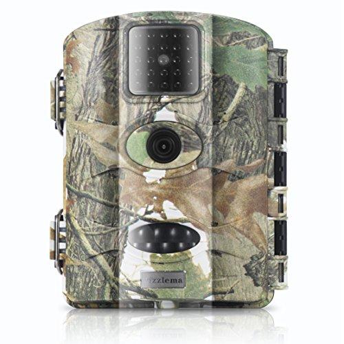"""Jagd-, Outdoor Überwachungs-und Wildkamera von Vizzlema mit 16MP HD Infrarote 20m Tag- / Nachtsicht, 2.4"""" LCD Display"""