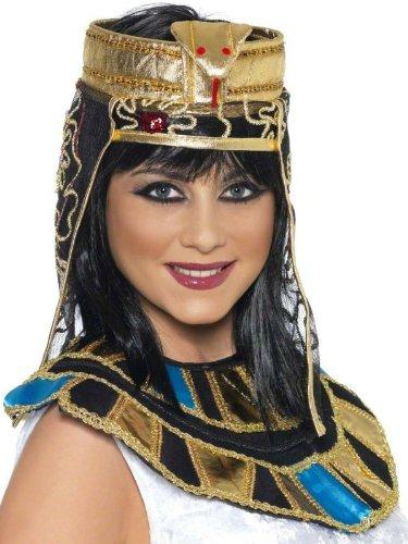 Karneval Kostüm Zubehör ägyptische Kopfbedeckung Ägypterin Orient (Ägyptische Kopfbedeckung Kostüm)