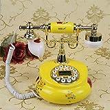FJH Estilo Europeo Retro Elegante Estilo Pastoral Regalo del Arte de cerámica Teléfono Hogar Oficina Moda Creativa Teléfono Fijo