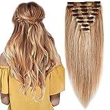 Extension a Clip Cheveux Naturel Maxi Volume 8 Pcs Rajout Vrai Cheveux Humain Naturel...