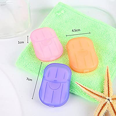 Hisuper-Store 20 Pieces Portable Soap Paper Soap Leaves - Random Color : everything five pounds (or less!)