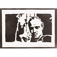 El Padrino Don Vito Corleone Hecho A Mano - Handmade Street Art Poster