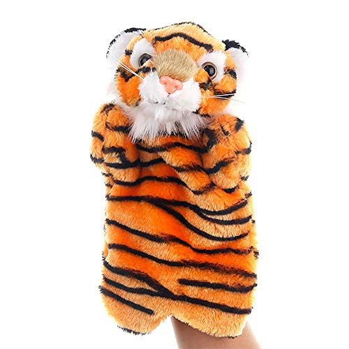 JMAHM Handpuppe Puppen Spielzeug Requisiten Tierart Panda Chicken Cattle Lernspielzeug Baby Kleinkinder (Handpuppe - Tiger) (Sprechende Handpuppe)