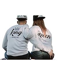 Sudaderas para parejas king and queen tallas unisex