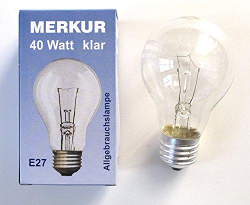 klar 40W E27 Allgebrauchslampe für Lüster Kronleuchter ()
