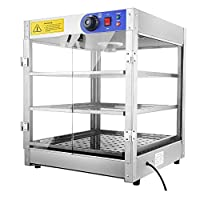 ReaseJoy Commercial Countertop Pizza Food Warmer Heated Display Cabinet Pastry Warming Showcase
