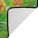 naanle Cute Bereich Teppich, Tiere, Dschungel Tiger Löwe Elefant Giraffe Zebra mit Bereich Teppich Matte für Esszimmer, Dorm Wohnzimmer Schlafzimmer-Deko 5'X7' multi Test