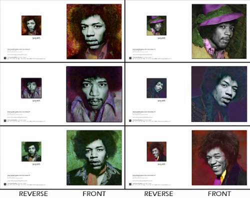 Jimi Hendrix Farbe Grußkarte Set Limited Edition by Gered Mankowitz (Farben Hendrix Jimi)