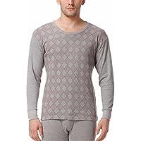 YMFIE Los hombres de algodón puro de impresión fina una suave y cómoda de manga larga, pantalones ropa interior térmica ajustar L-XXXL,xl,b