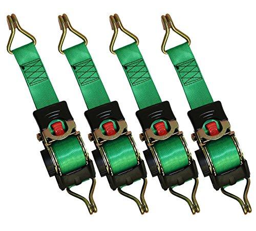4 x Automatik Spanngurt/ Automatischer Zurrgurt 3,0m x 50mm 750daN/1500 daN selbstaufrollend mit Spitzhaken (11)