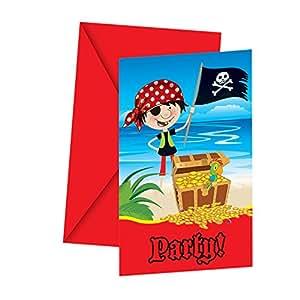 Kleine piraten einladungskarten mit umschlag for Amazon einladungskarten