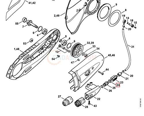 Genuine Stihl TS400 TS410 SEALING RING 0000 954 1701
