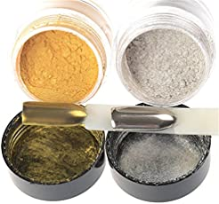 Lepakshi Gold 1 Box Gold Silver Shinning Mirror Nail Glitter Nail Art Gel Polish Mirror Powder Du