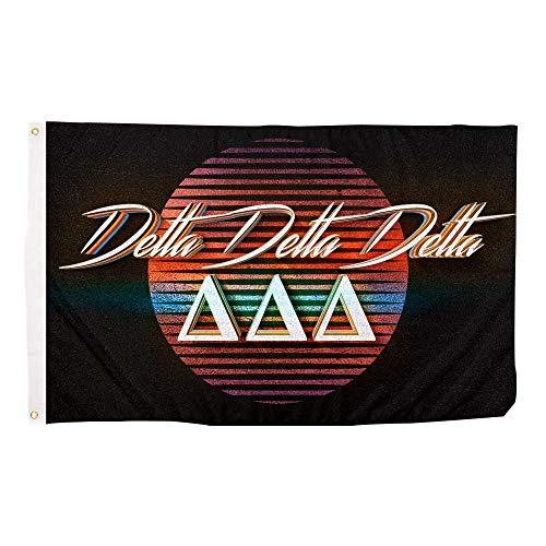 Delta Delta Delta Delta 80er Jahre Letter Sorunity Fahne Banner 3x5 Schild Dekor Tri Delta - Delta Delta Delta Geschenke Sorority