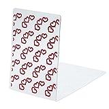 Plantilla en relieve para manualidades y decoración de tarjetas, borde de diseño con plástico transparente; de Calistouk