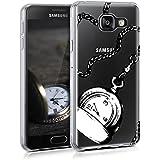 kwmobile Étui transparent pour Samsung Galaxy A3 (2016) Housse de protection en TPU silicone design IMD - cover souple pour portable Design montre de poche