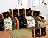 #10: Home Elite Multicolored Cotton Diwan Set ( Pack Of 8 Piece)