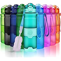 ZORRI Sport Trinkflasche BPA Frei Tritan Wasserflasche Auslaufsicher 400ml/ 500ml/ 700ml /1000ml, Sportflasche Für Kinder Schule,Fahrrad Trinkflaschen Mit Filter, Für Gym, Laufen, Open Mit 1-Click