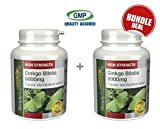 Ginkgo Biloba 6000mg | May Support Short-term Memory | Bundle Deal 120+120 Tablets (240 in total) | 100% money back guarantee | Manufactured in the UK from Simply Supplements