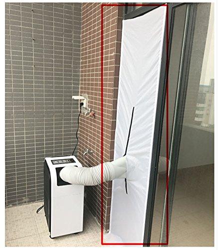 Guarnizione Universale G&M only AirLock Guarnizione per porta finestra,per climatizzatori ed essiccatori,Hot Air Stop (210 x 48 cm bianco)