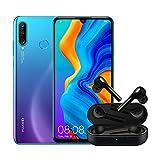 Huawei P30 Lite (Blue) Smartphone + cover trasparente, 4GB RAM, memoria 128 GB, Display 6.15' FHD+, Tripla fotocamera posteriore da 48+8+2 MP, fotocamera anteriore 24 MP [Versione Italiana]