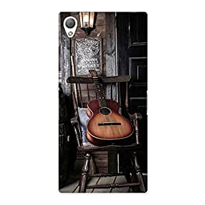 Gorgeous Old Guitar On Chair Back Case Cover for Sony Xperia Z3