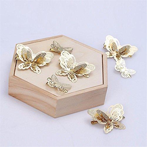 Chinesische Braut Kopfbedeckung Schmetterlingsbraut Haarspange Clip Clip Show Kleidung Drachen und Phoenix Schädel Ornamente ()
