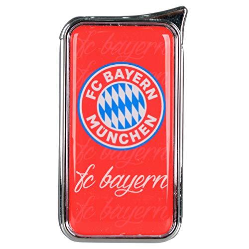 Mein Landhaus Feuerzeug FC Bayern München Atomic Doming - offizieller Lizenzartikel (einzeln rot)