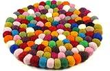 Guru-Shop Filz Untersetzer, Rund - Bunt Ø 20 cm, Mehrfarbig, Dekoration aus Filz