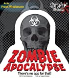 """Awesome Zombie Apocalypse sticker ('there's no app for that'), in the perfect size for car window, locker or laptop. 4.5 x 4.5"""" Artist: Frank Wiedemann"""