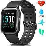 AIMIUVEI Smartwatch, Reloj Inteligente Impermeable IP68, Pulsera Actividad Inteligente con Pulsómetro Monitor de Sueño GPS Podómetro Smartwatch Hombre Mujer Compatible con iOS y Android