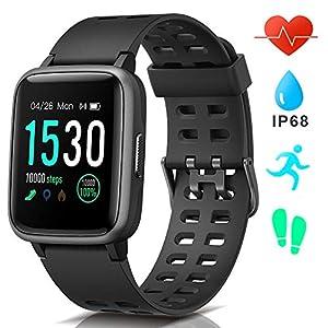 AIMIUVEI Smartwatch, Reloj Inteligente Impermeable IP68, Pulsera Actividad